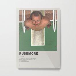 Rushmore  Minimal Movie Poster No 01 Metal Print