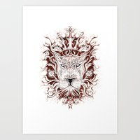 Spirit Lion Art Print