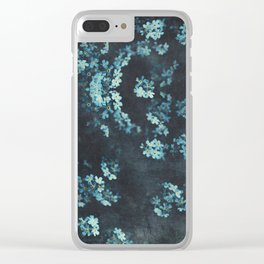 Forget-Me-Nots Pattern Clear iPhone Case