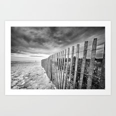 Ocean City Sand Dune Fence Art Print