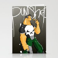 punisher Stationery Cards featuring The Punisher by Pahito