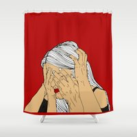 introvert Shower Curtains featuring Introvert 4 by Heidi Banford