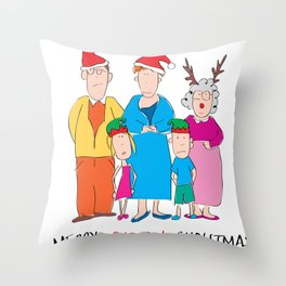 Merry Bloody Christmas Throw Pillow