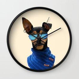 Pinscher Fashion Wall Clock