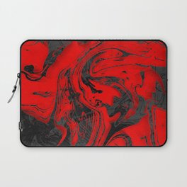 Black & Red Marble Laptop Sleeve