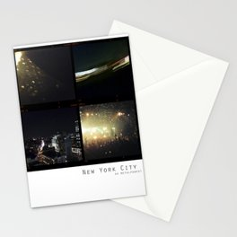 New York Nights II : Neon Gold Stationery Cards