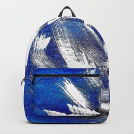 Cosmic blue white Backpack