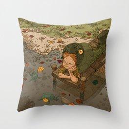 La rivière aux tortues Throw Pillow