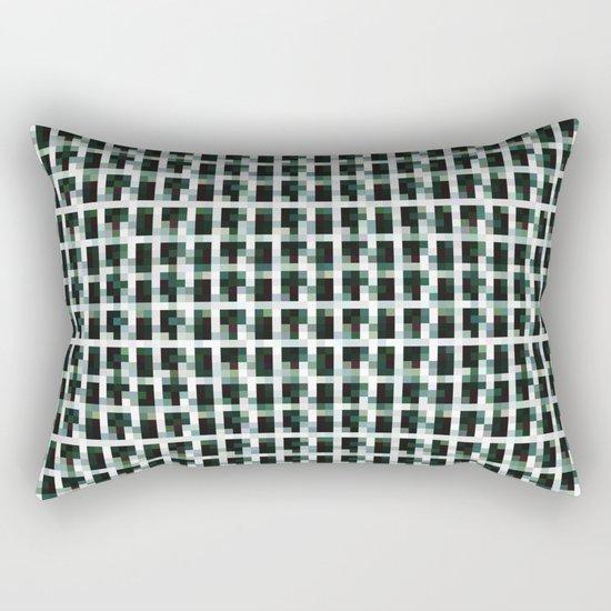 Black And Khaki Pixelated Pattern by byjwp