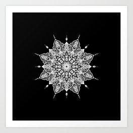 black monika's mandala Art Print
