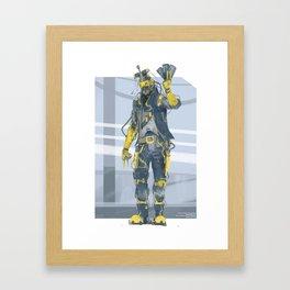 Astro Gambler Framed Art Print
