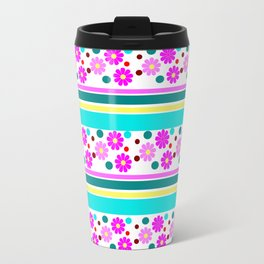 COLORFUL FLOWER Travel Mug
