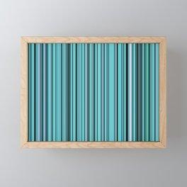 Old Skool Stripes - Teal - Extra Wide Framed Mini Art Print