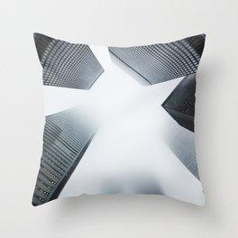 Hyper Fog - New York City Throw Pillow