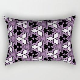 Decorative Bold Purple Geo Pattern Design Rectangular Pillow