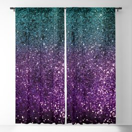 Aqua Purple Ombre Glitter #3 #decor #art #society6 Blackout Curtain