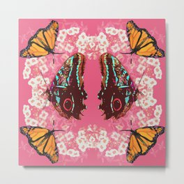 Butterfly Circle Metal Print