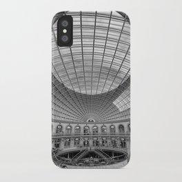 The Corn Exchange Interior In Monochrome iPhone Case