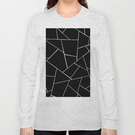 Black White Geometric Glam #2 #geo #decor #art #society6 Long Sleeve T-shirt