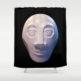Alien-human hybrid head Shower Curtain