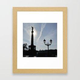 Victory-Column with street lamp, Berlin Framed Art Print