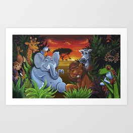Jungle Mural Art Print