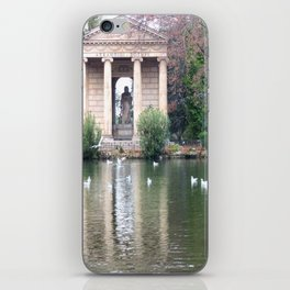 Reflection at Villa Borghese. iPhone Skin