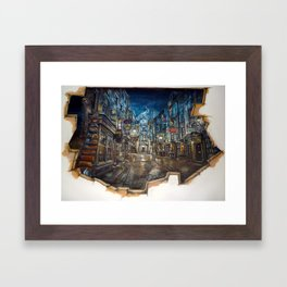 Breach to Diagon Alley Framed Art Print