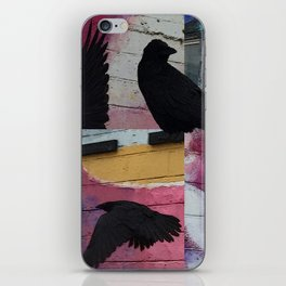 Raven in the City iPhone Skin