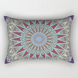 Coral Delight Mandala - LaurensColour Rectangular Pillow
