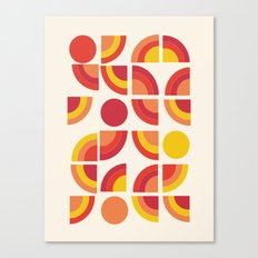 Boogie - abstract retro minimalist 70s 1970s style pattern art 70's 1970's Canvas Print