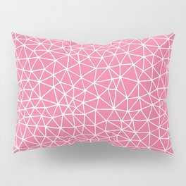 Connectivity - White on Pink Pillow Sham