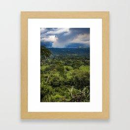 Steam Rising from Masaya Volcano in the Rainforest of Nicaragua Framed Art Print