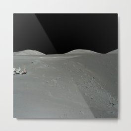 Apollo 17 - Astronaut on the Crater Metal Print