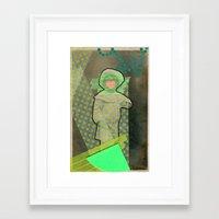 cyclops Framed Art Prints featuring Cyclops by Naomi Vona