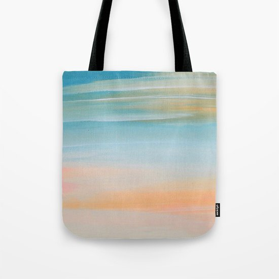Fresh Colors Painterly Abstract Tote Bag