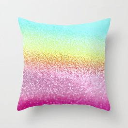 UNICORN GLITTER Throw Pillow