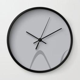 Grey Curves II Wall Clock