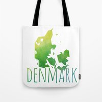 denmark Tote Bags featuring Denmark by Stephanie Wittenburg