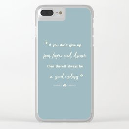 SHINEE Minho Quote Clear iPhone Case