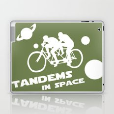 Tandems in Space in Green Laptop & iPad Skin