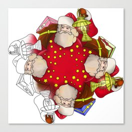 Santa Claus Mandala Canvas Print