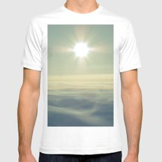 Our hearts burn for more - Mt. Rainier MEDIUM Mens Fitted Tee White