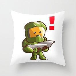 Halo Master Chief Kawaii Throw Pillow