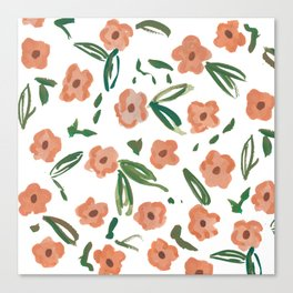 Live Simply Floral Pattern Canvas Print