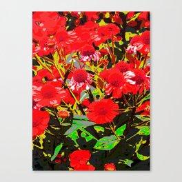Red flowers garden Canvas Print