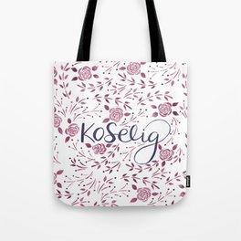 Koselig - Burgundy Tote Bag