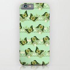 Green butterflies pattern Slim Case iPhone 6s