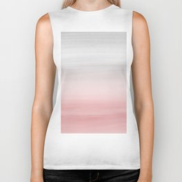 Touching Blush Gray Watercolor Abstract #1 #painting #decor #art #society6 Biker Tank