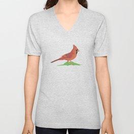 Northern Cardinal Bird Unisex V-Neck